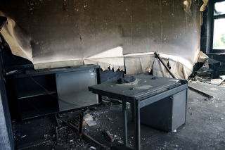 Lithium-Ion battery Fire Damage Cleanup