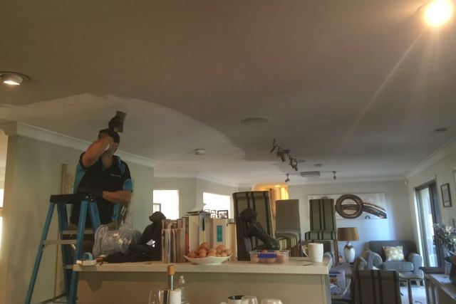 Smoke damage cleaning to ceiling